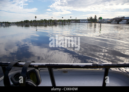 on board an airboat ride in everglades city florida everglades usa - Stock Photo