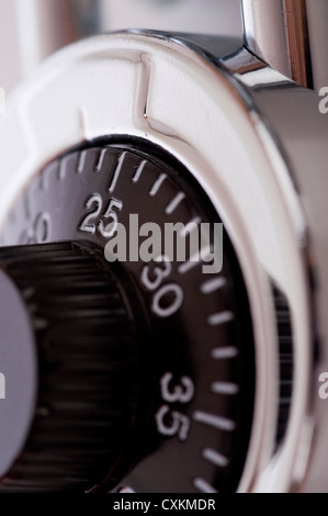 A close-up of a combination lock - Stock Photo