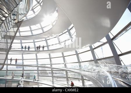 Reichstag dome interior, Berlin - Stock Photo