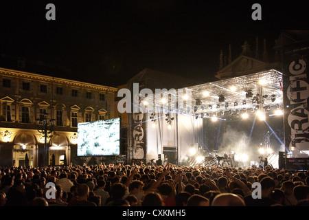 TURIN, ITALY - JUNE 09: Orbital dj at Traffic festival 2012 on June 09, 2012 Turin, Italy. - Stock Photo