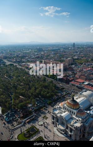 Alameda Central and Palacio de Bellas Artes, Distrito Federal, Mexico City, Mexico - Stock Photo