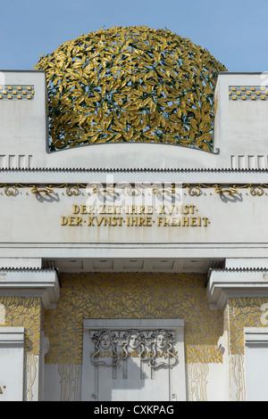 Secession Building designed by Joesph M Olbrich, Vienna, Austria - Stock Photo