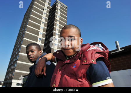 Young Unemployed Youth Leeds UK - Stock Photo