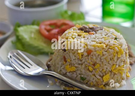Pork fried rice. - Stock Photo