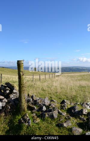 Fence post, Middleton top, Derbyshire - Stock Photo