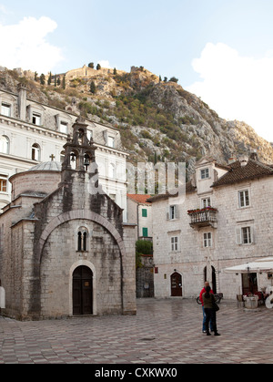 street scene, Old town Kotor, Montenegro - Stock Photo