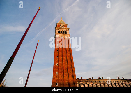 The Campanile Bell tower in St. Mark's Square, Venice, Italy. - Stock Photo