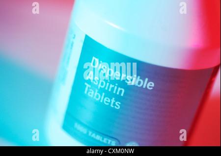 Dispersible Aspirin tablets - Stock Photo