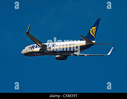 Rynair Boeing 737 Aircraft, Gatwick Airport, Sussex, England - Stock Photo