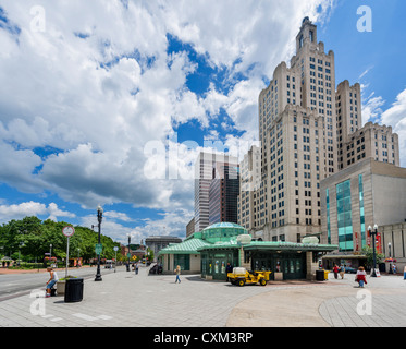 Kennedy Plaza in downtown Providence, Rhode Island, USA - Stock Photo