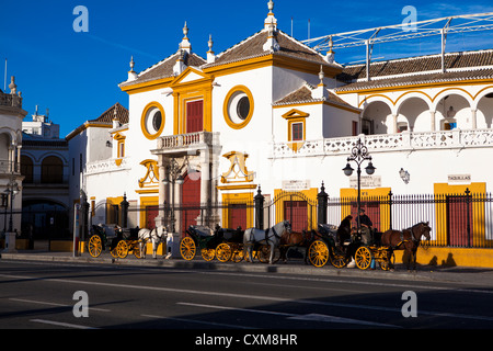 Bullring Seville Andalucia Spain - Stock Photo