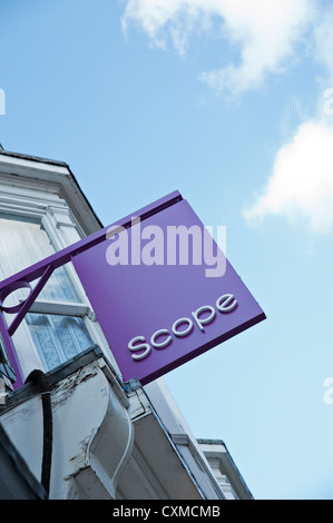 A Scope Charity Sign - Stock Photo