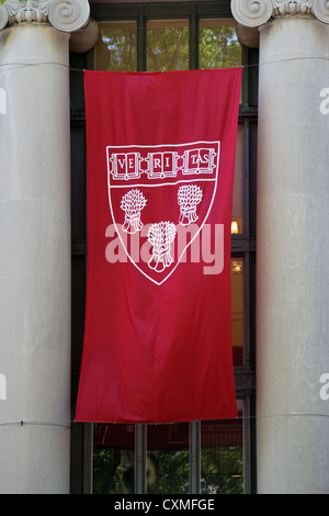 Cambridge, MA, USA - May 25, 2011: Harvard Law School's crest at Langdell Law Library at Commencement 2011 on May - Stock Photo