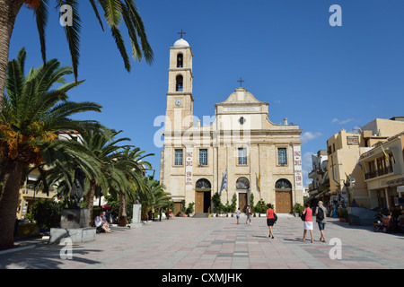 The Cathedral of the Presentation of the Virgin Mary, Patr.Athinagora Square, Chania, Chania Region, Crete, Crete - Stock Photo