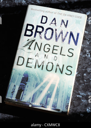 dan brown angels and demons book cover - Stock Photo