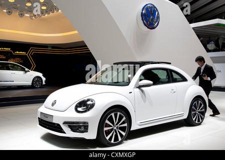 Volkswagen Beetle R-Line at the Paris Motor Show 2012 - Stock Photo