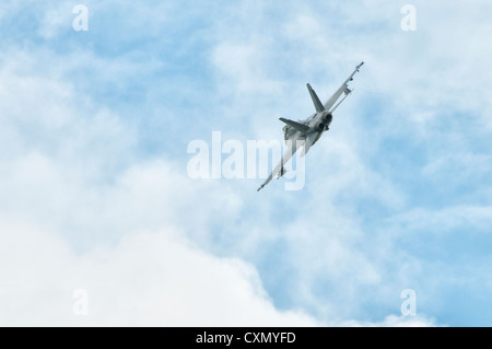 Boeing F/A-18F Super Hornet 166790 NJ-135  demonstrates at the 2012 Royal International Air Tattoo Stock Photo