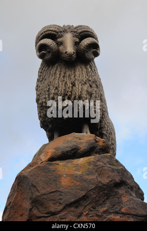 The famous Moffat ram Scottish borders - Stock Photo