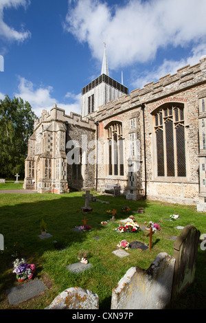 Church of St Mary Magdelene at Bildeston Suffolk England - Stock Photo