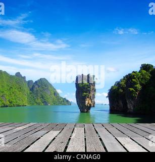 james bond island in thailand, ko tapu - Stock Photo