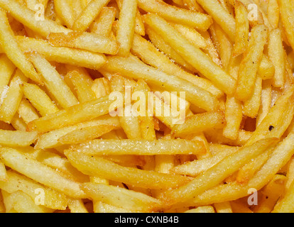 French fries background. - Stock Photo