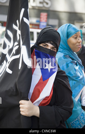 Annual Muslim American Day Parade on Madison Avenue in New York City. - Stock Photo