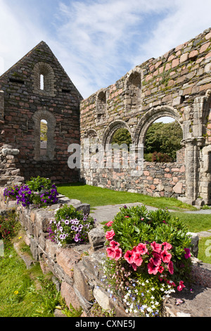 Ruins of the Nunnery founded in the early 13th century on Iona, off the Isle of Mull, Inner Hebrides, Argyll and - Stock Photo