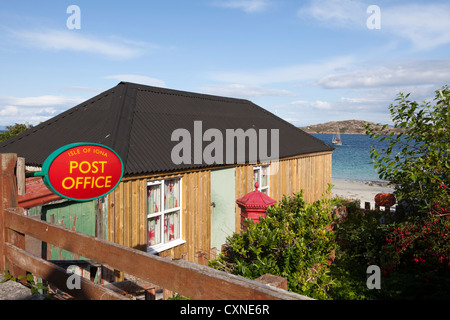 The Post Office at Baile Mor on Iona, off the Isle of Mull, Inner Hebrides, Argyll and Bute, Scotland, UK - Stock Photo