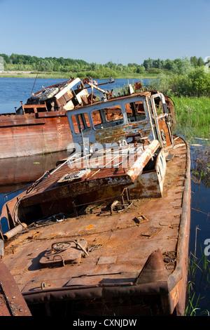 Chernobyl recovery equipment - Stock Photo