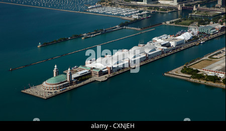 aerial photograph Navy Pier Chicago, Illinois - Stock Photo