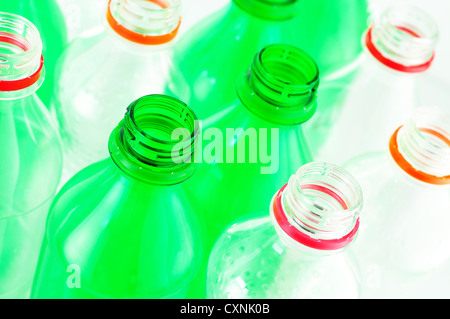 water bottles isolated on white background - Stock Photo