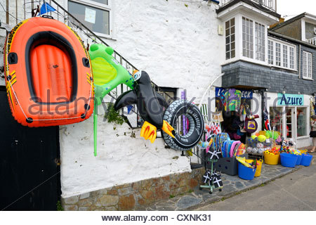 Beach toys on sale, St Ives, Cornwall, England - Stock Photo
