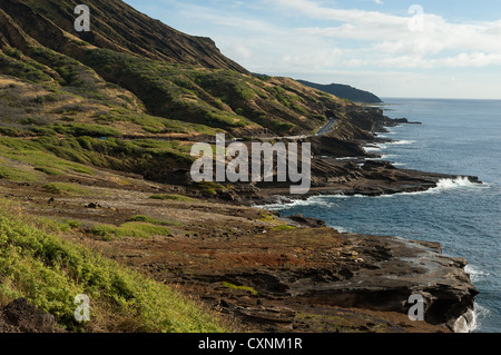 Elk284-1667 Hawaii, Oahu, Makapu'u Point - Stock Photo