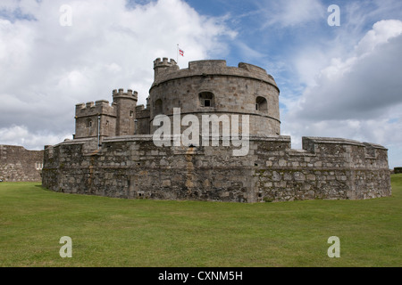Pendennis Castle in Cornwall, UK - Stock Photo