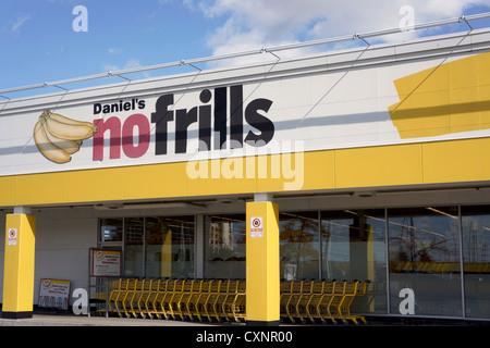 No Frills, Supermarket, Grocery Store, Ontario, Canada - Stock Photo
