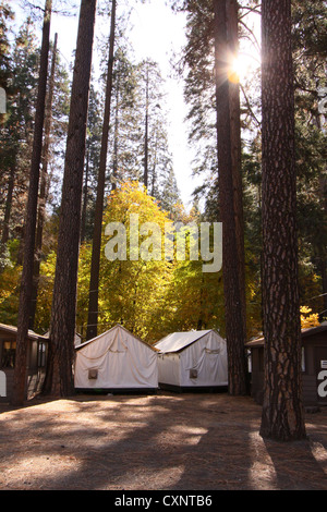 ... Curry Village Tent Cabins In The Camp Curry Part Of Yosemite National  Park. The Site