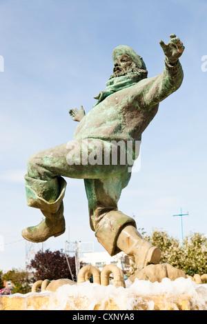 Jolly Fisherman, Skegness, Lincolnshire, England, UK - Stock Photo