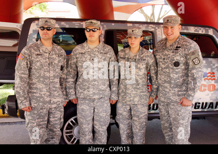 national guard soldiers portrait headshot males female men women females new mexico nm adult grownup mature - Stock Photo