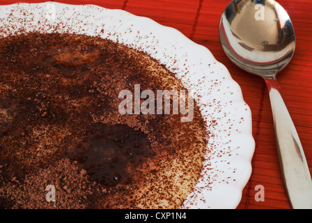 Semolina mash with cocoa for babies and small children - Stock Photo