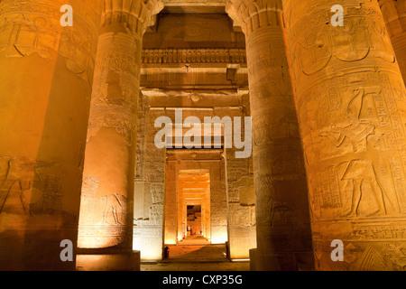 column in sobek temple - Stock Photo
