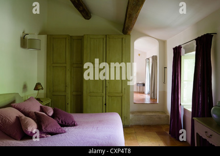 Renovated French town house furnished sympathetically with well-sourced antiques - Stock Photo