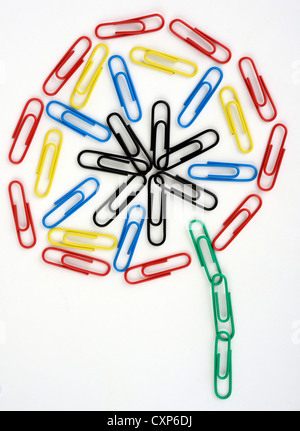 Colorful paper clips. - Stock Photo