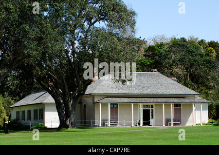 The Treaty House in Waitangi National Reserve, Bay of Islands, Far North District, Northland Region, New Zealand - Stock Photo