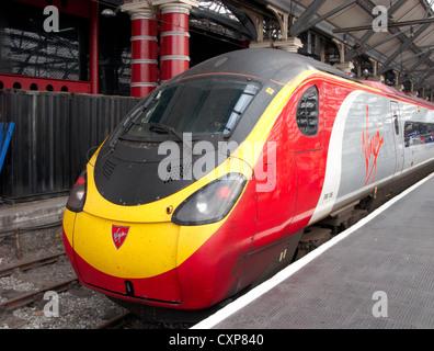 virgin trains west coast main line station liverpool lime st merseyside uk - Stock Photo