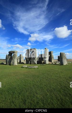 Stonehenge prehistoric monument in Wiltshire England. - Stock Photo