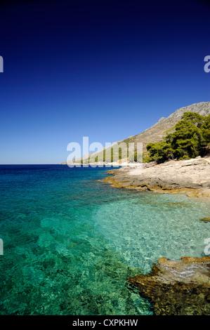croatia, dalmatian islands, hvar island, southern coast, bojanic - Stock Photo
