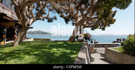 Hanging out on the waterfront in Sausalito, California - Stock Photo
