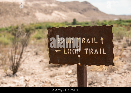 Big Bend National Park, Texas, hiking trails. - Stock Photo