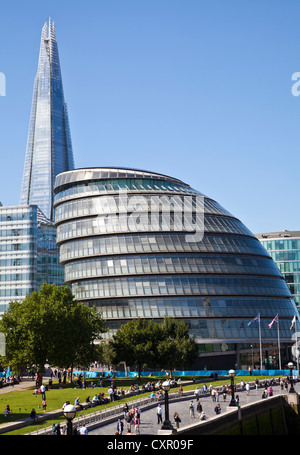 GLC Building with Shard in background - Stock Photo