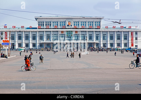 Democratic Peoples's Republic of Korea (DPRK), North Korea, Hamhung, Hamhung train station - Stock Photo